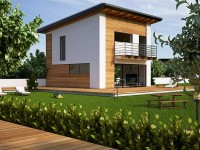 изображение проекта дома из клееного бруса Modern ELENA